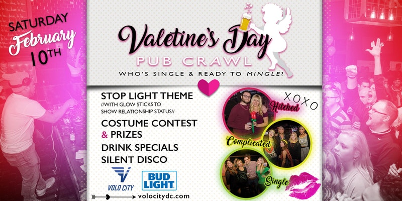 Valentine's Day Bar Crawl - Volo City DC - Adult Social ...